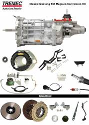 Transmission - Conversion Kits - American Powertrain - 1965 - 1966 Mustang Manual Transmission Tremec T-56 Magnum Conversion Kit