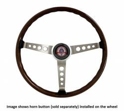 Steering Wheel & Related - Steering Wheels - Scott Drake - 65 - 73 Shelby Walnut Wood Rim Steering Wheel, 3 Spoke