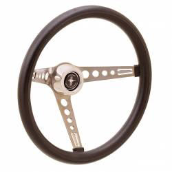 "Steering Wheel & Related - Steering Wheels - Miscellaneous - 65 - 73 Mustang GT Performance 15"" Retro Steering Wheel (Black Foam Grip)"