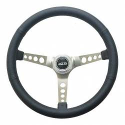 "Steering Wheel & Related - Steering Wheels - Miscellaneous - 65 - 73 Mustang GT Performance 15"" Retro Steering Wheel (Black Leather Grip)"