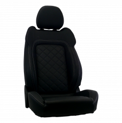 Procar - Mustang Procar Touring Seat, Right, Black Vinyl