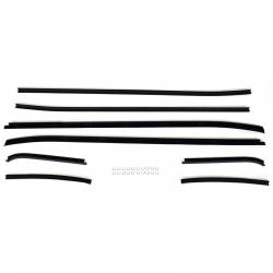 Weatherstrip - Window - All Classic Parts - 71 - 73 Mustang Beltline Window Felt Kit, Fastback, 8 Pieces