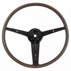1964-1973 Mustang Parts - 1964-1973 New Products - All Classic Parts - 1970 - 1973 Mustang Deluxe Rim Blow Steering Wheel, Woodgrain