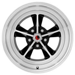Legendary Wheel Co. - 17 x 7 Legendary GT9 Alloy Wheel, 5 on 4.5 BP, 4.25 BS, Gloss Black / Machined
