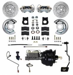 Disc Brakes - Brake Kits - Scott Drake - 67 - 69 Mustang Power Front Disc Brake Conv Kit, Manual Trans, W/Drilled and Slotted Rotors