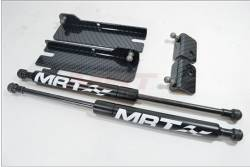 Carbon Fiber - Hood & Related - MRT - 2015+ Mustang MRT No-Drill Hood Struts-Black Carbon Fiber