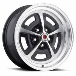 Wheels - 17 Inch - Legendary Wheel Co. - 64 - 73 Mustang 17x7 Magnum 500 Alloy Wheel- Gloss Black/ Machined