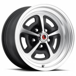 69 - 73 Mustang 15 x 7 Magnum Alloy Wheel, 5 on 4.5 BP, 4.25 BS-Stain Black/Satin Finish