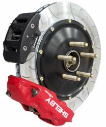 2015-2020 Mustang Parts - 2015-2020 New Products - Shelby Performance Parts - 2015 - 2021 Mustang Shelby Brembo GT Series 4-Piston REAR Brake Kit - RED
