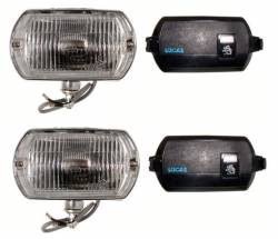 Lucas Reproduction Fog Lights fit 68-70 Shelby and 1968 CA Special Mustang